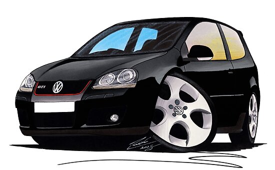 VW Golf GTi (Mk5) Black by Richard Yeomans