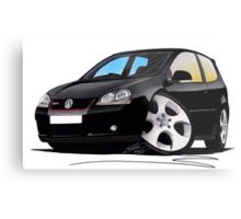 VW Golf GTi (Mk5) Black Metal Print