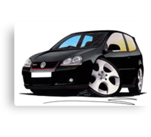 VW Golf GTi (Mk5) Black Canvas Print