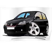 VW Golf GTi (Mk5) Black Poster