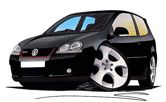 VW Golf GTi (Mk5) Black by Richard Yeomans