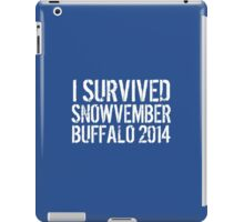Awesome 'I survived Snowvember Buffalo 2014' Snowstorm T-Shirt and Accessories iPad Case/Skin