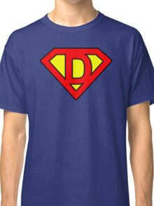 D letter in Superman style Classic T-Shirt