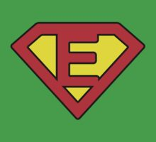 E letter in Superman style One Piece - Short Sleeve