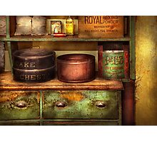 Chef - Kitchen - Food - The cake chest Photographic Print