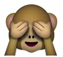 Emoji See No Evil Monkey by assorted