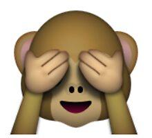 Emoji See No Evil Monkey by assorted