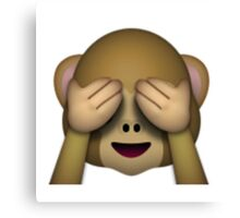 Emoji See No Evil Monkey Canvas Print
