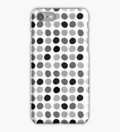 Yves - Silver Black and glitter paintbrush dots in modern style gifts for him or her iPhone Case/Skin
