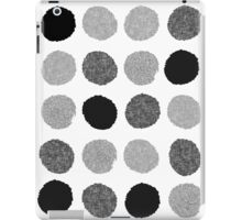 Yves - Silver Black and glitter paintbrush dots in modern style gifts for him or her iPad Case/Skin