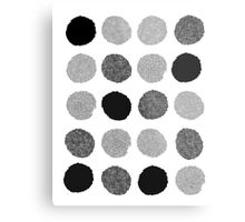 Yves - Silver Black and glitter paintbrush dots in modern style gifts for him or her Metal Print