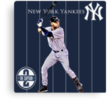 New York Yankees Captain Derek Jeter Canvas Print