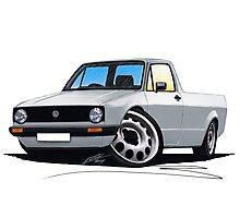 VW Caddy Silver Photographic Print
