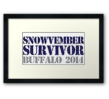 Funny 'Snowvember Survivor Buffalo 2014' Snowstorm Hoodies and Accessories Framed Print
