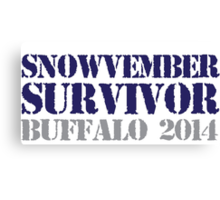 Funny 'Snowvember Survivor Buffalo 2014' Snowstorm Hoodies and Accessories Canvas Print