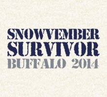 Funny 'Snowvember Survivor Buffalo 2014' Snowstorm Hoodies and Accessories by Albany Retro