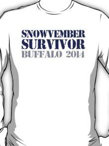 Funny 'Snowvember Survivor Buffalo 2014' Snowstorm Hoodies and Accessories T-Shirt