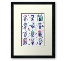 Vocaloid Mix Framed Print
