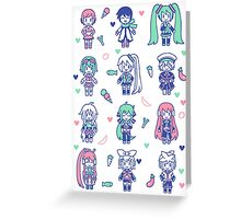 Vocaloid Mix Greeting Card