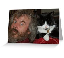 Martin and Binky Cat Greeting Card