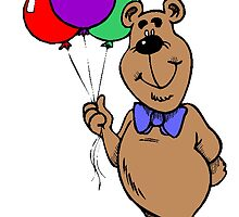 Bear With Balloons by kwg2200