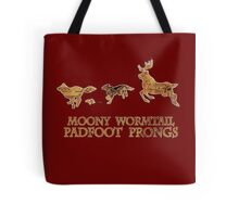 Harry Potter Marauder's Map: Moony, Wormtail, Padfoot & Prongs Tote Bag