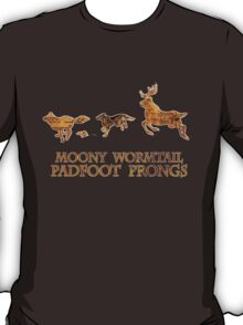 Harry Potter Marauder's Map: Moony, Wormtail, Padfoot & Prongs T-Shirt