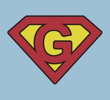 G letter in Superman style Baby Tee