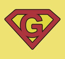 G letter in Superman style Kids Tee