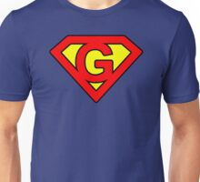 G letter in Superman style Unisex T-Shirt