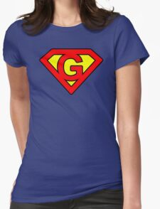G letter in Superman style Womens Fitted T-Shirt