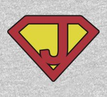J letter in Superman style One Piece - Long Sleeve