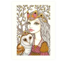 Sisterhood of the white owl Art Print