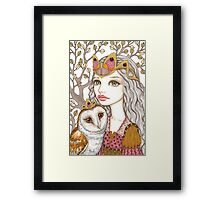 Sisterhood of the white owl Framed Print