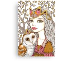 Sisterhood of the white owl Canvas Print