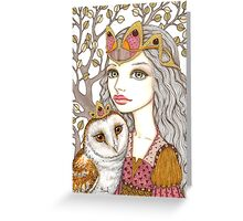 Sisterhood of the white owl Greeting Card