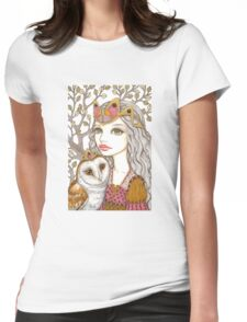 Sisterhood of the white owl Womens Fitted T-Shirt