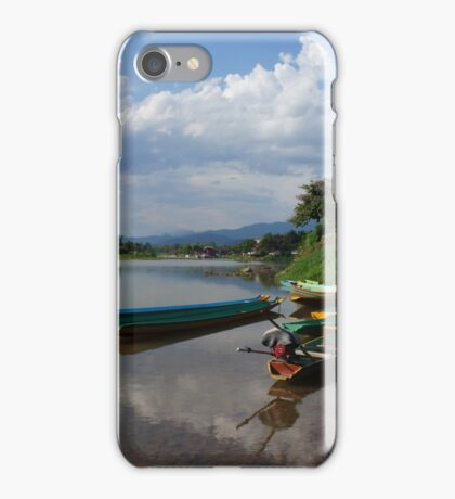 Boats of the Nam Song, Laos iPhone Case/Skin