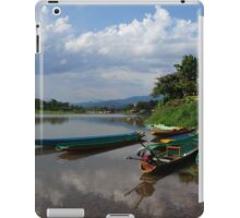 Boats of the Nam Song, Laos iPad Case/Skin