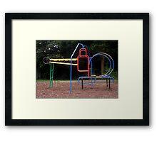 Helicopter Frame Framed Print
