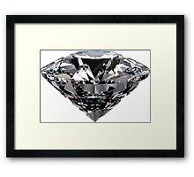 real diamond Framed Print
