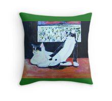 Cats in Taos Throw Pillow