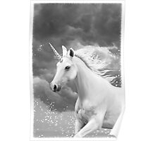 Unicorn in Snow Poster