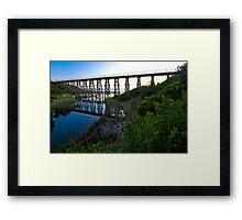 Beach trestle Framed Print
