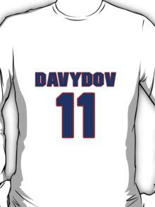 National Hockey player Evgeny Davydov jersey 11 T-Shirt