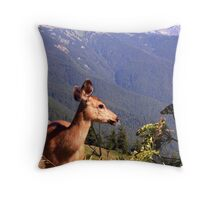 Deer on the Edge of Forever Throw Pillow