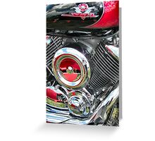 Chrome Refections Greeting Card
