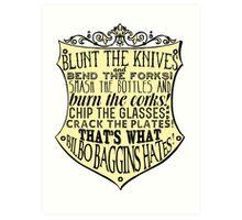 Blunt the Knives Art Print