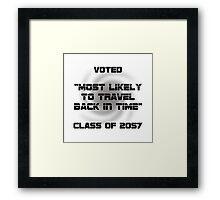 Voted Time Travel Framed Print