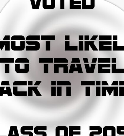 Voted Time Travel Sticker